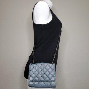 Zara Woman | Ice Blue Studded Mini Crossbody Purse